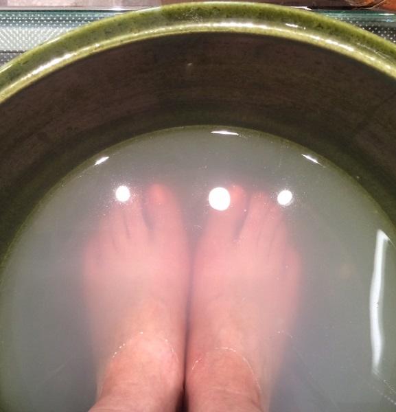 テラリウム足湯体験