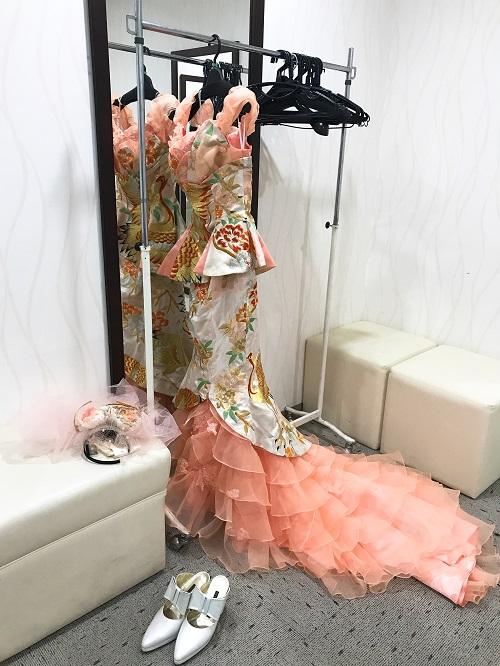 ママレボパーティーベラドンナアート展大賞受賞ドレス華の舞